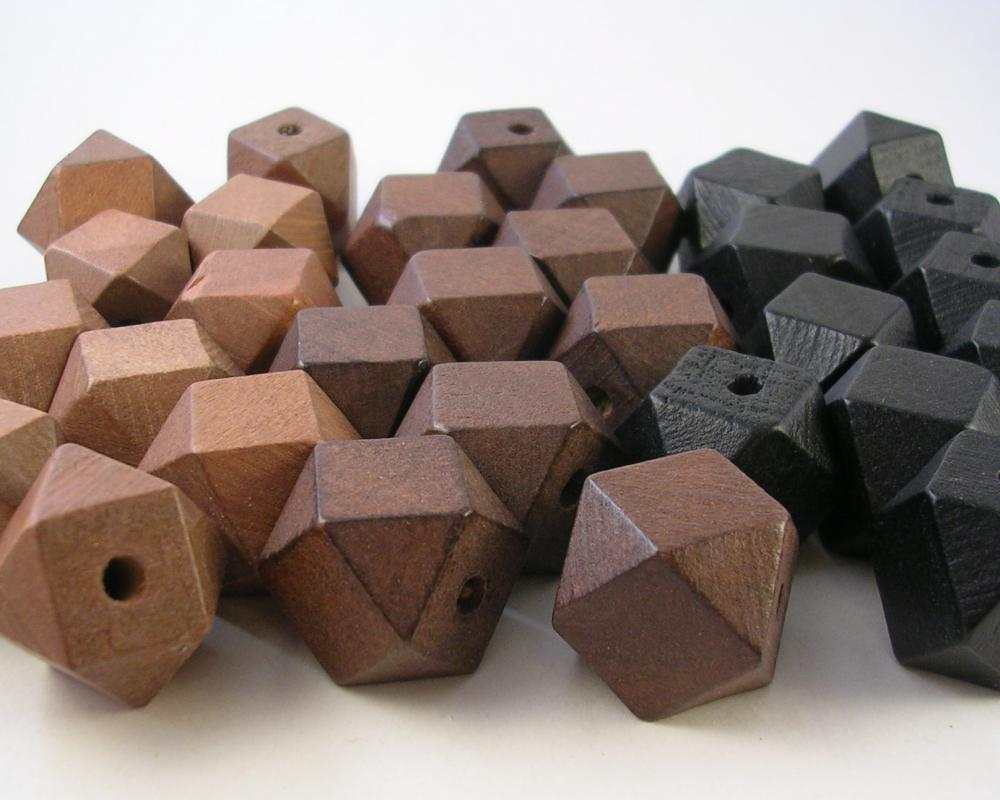 15 Wood Cube Beads Sampler Pack (WB50)